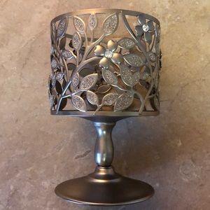 Bath & Body Works Silver Pedestal Candle Holder